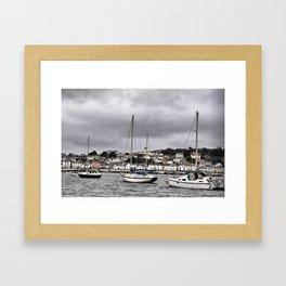 Three little sailing boats Framed Art Print