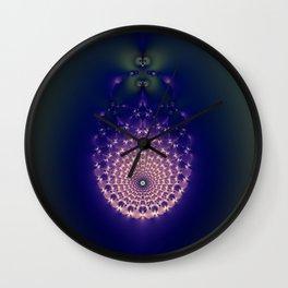 Fractal Storm Wall Clock