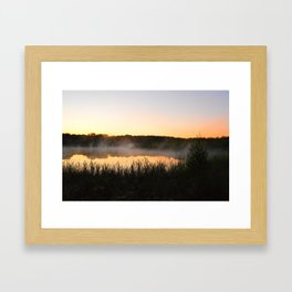 Sunsets and Steam Framed Art Print