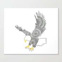 Eagle Circle Art Canvas Print