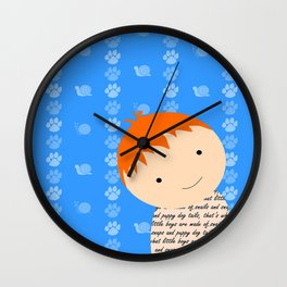 Snails and Puppy Dog Tails Red Headed Little Boy Wall Clock