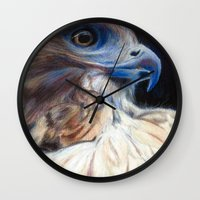 ruby Wall Clocks featuring Ruby by E.C. Ellison