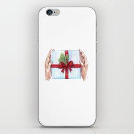 Cadeau du Nouvel An pour les proches. iPhone Skin