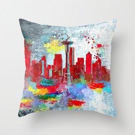 Seattle Grunge Throw Pillow