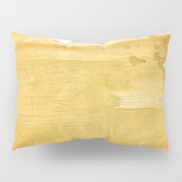 Sandy brown abstract wash painting Pillow Sham