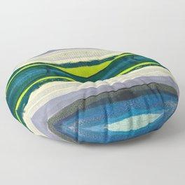 Water Waves I Floor Pillow