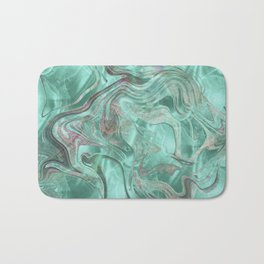 Mint Gem Green Marble Swirl Bath Mat