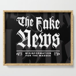The Fake News Header Serving Tray