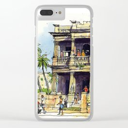 Faded Elegance, Havana. Clear iPhone Case