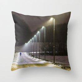 Stockholm winter Throw Pillow
