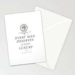 Every Man Deserves a Little Luxury (Mustache) Stationery Cards