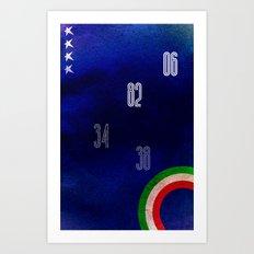 Italy World Cup Art Print