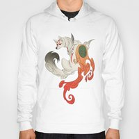 okami Hoodies featuring Okami Amaterasu  by Ectoimp