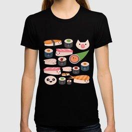 Kawaii sushi blue T-shirt