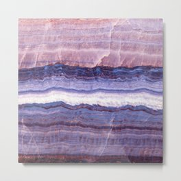 Azul marble Metal Print