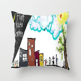 Flint Youth Center Throw Pillow