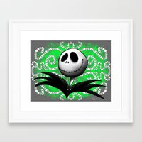 jack skellington Framed Art Prints featuring jack skellington by Dan Solo Galleries