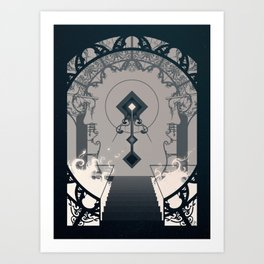 Cathedral (White Fire) Art Print
