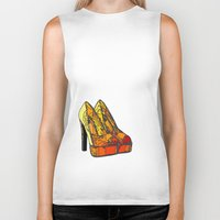 shoe Biker Tanks featuring Shoe 3 by AstridJN