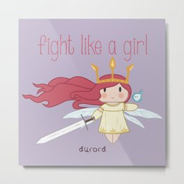 Fight Like a Girl - Aurora ~ Child of Light Metal Print
