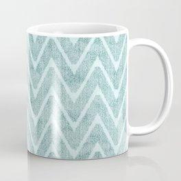 Palest Sea Green Zigzag Imitation Terrycloth Coffee Mug