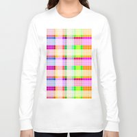 bathroom Long Sleeve T-shirts featuring Bathroom Tile Rainbow by Jessica Slater Design & Illustration