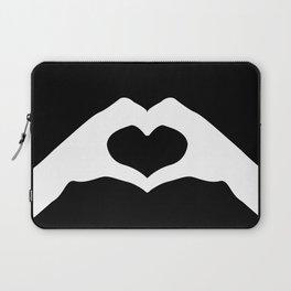 Hands making a heart shape- portraying love Laptop Sleeve