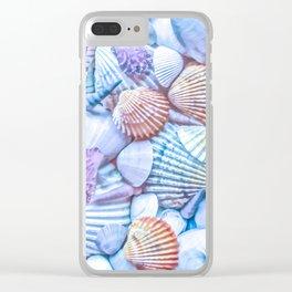 Seashells Everywhere Clear iPhone Case