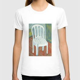 a plastic chair T-shirt