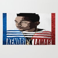 kendrick lamar Area & Throw Rugs featuring Kendrick  by Tecnificent