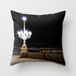 San Sebastian, Spain - Night Rider Throw Pillow
