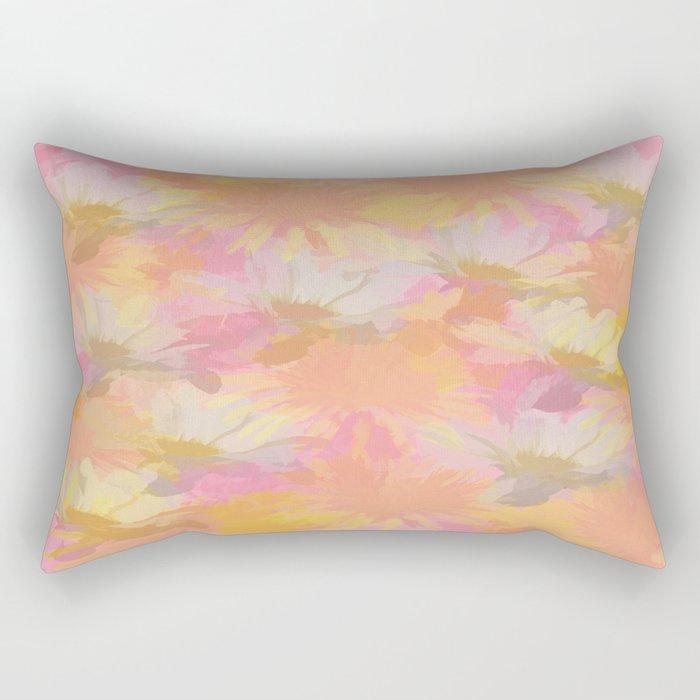 Painted Spring Flowers Rectangular Pillow