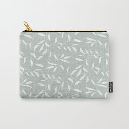 Soft Green Willow Branches Carry-All Pouch