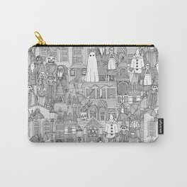 vintage halloween black white Carry-All Pouch
