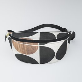 Mid-Century Modern Pattern No.1 - Concrete and Wood Fanny Pack