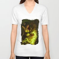 witchcraft V-neck T-shirts featuring Witchcraft by Pinturero