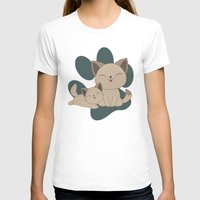 mew T-shirts featuring Mama, Mew...Mew... by HK Chik