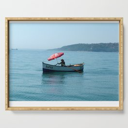 One Man and His Boat Serving Tray
