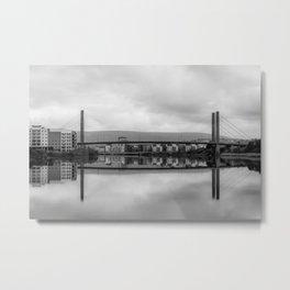 Bridge over the River Usk, Newport Metal Print