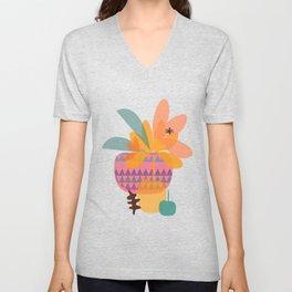 Tropical Fruit Basket Unisex V-Neck