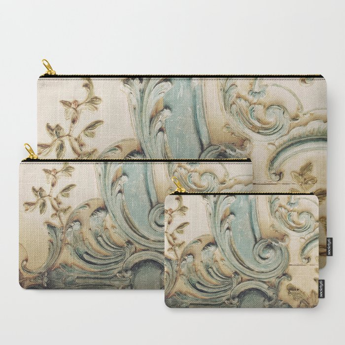 Blue Lace of Versailles Carry-All Pouch