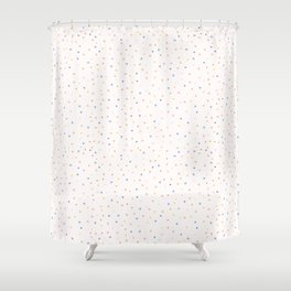 Hand drawn tiny confetti sprinkles . Seamless repeat pattern Shower Curtain