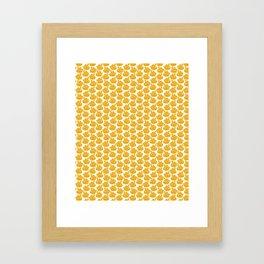 Gold Crown Lynn Swans Framed Art Print