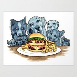Burger Dogs Art Print