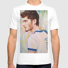Zayn Malik One Direction White Mens Fitted Tee MEDIUM