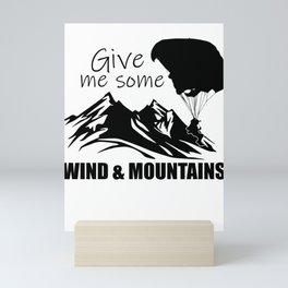 Paragliding sport Mini Art Print