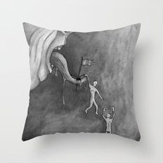 The claim on freedom Throw Pillow