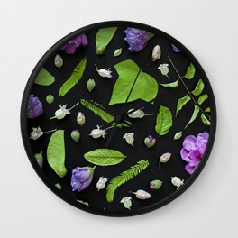 Leaves and flowers pattern (17) Wall Clock
