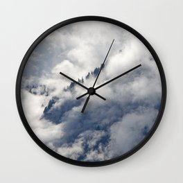 MISTY ISLANDS IN THE SKY Wall Clock