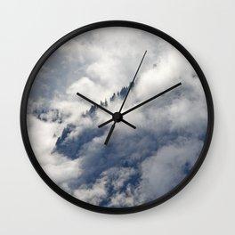 MISTY ISLANDS IN THE SKY Wall Clock